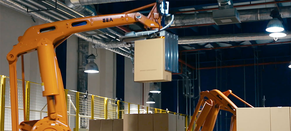 Warehouse robotics video