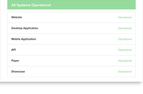 Statuspage screen 3